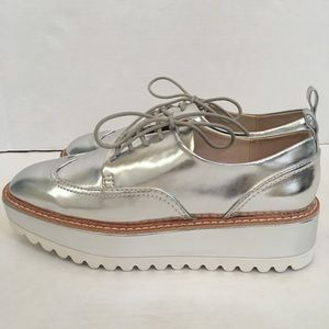 Zara Silver Track Sole Brogues NEW